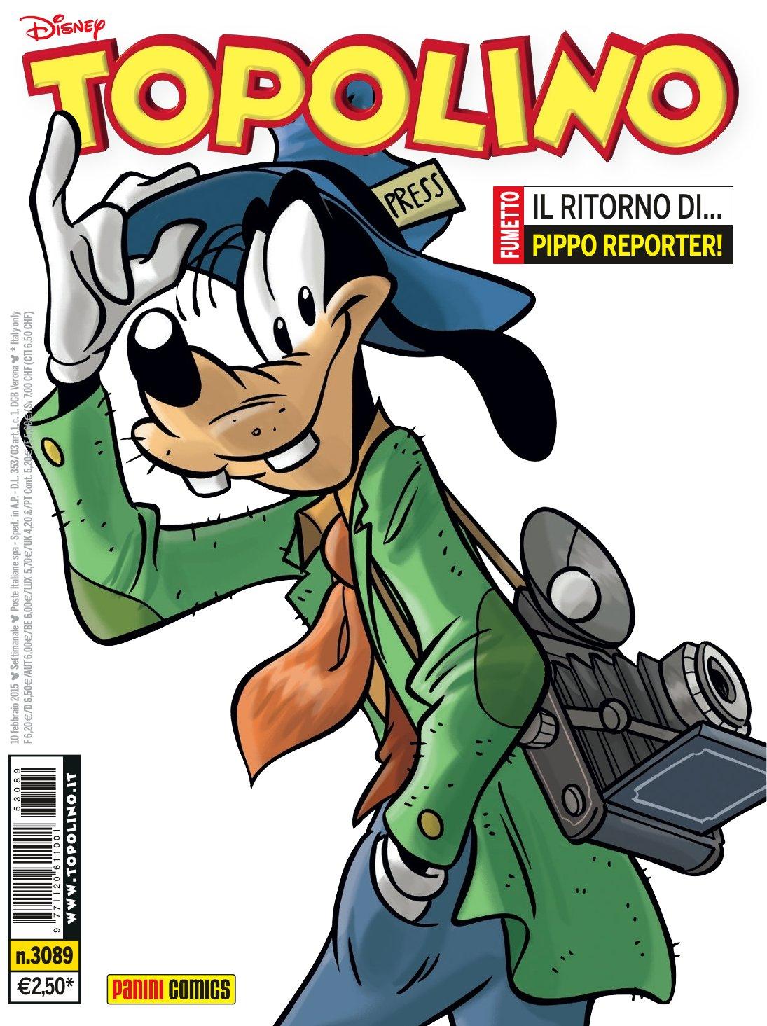 Cover Topolino 3089 - Pippo Reporter