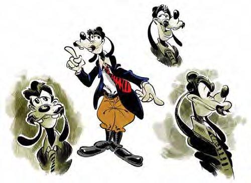 Studi di Paolo Mottura per Pippo Groucho