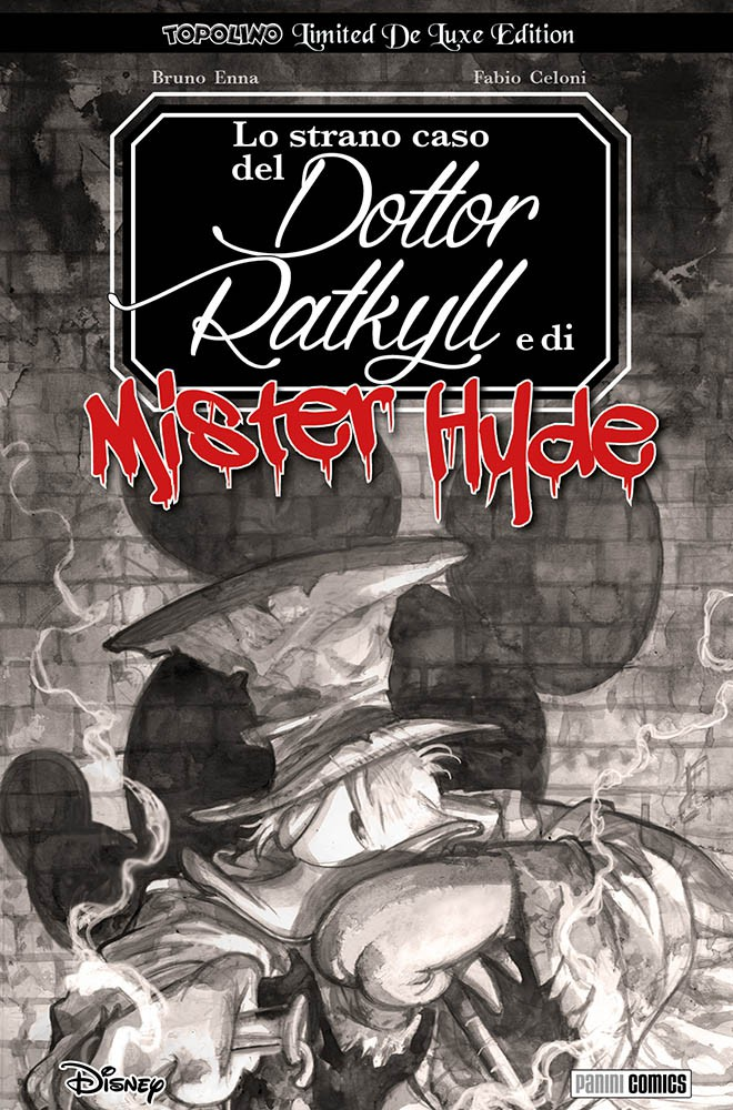 Cover variant Topolino Limited De Luxe Edition 1 - Lo strano caso del Dottor Ratkyll e di Mister Hyde