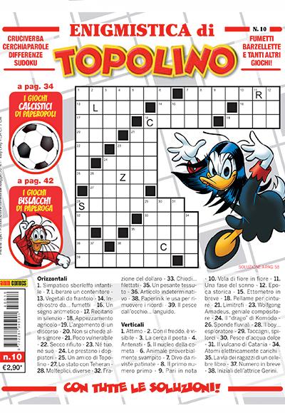 Cover Enigmistica di Topolino 10