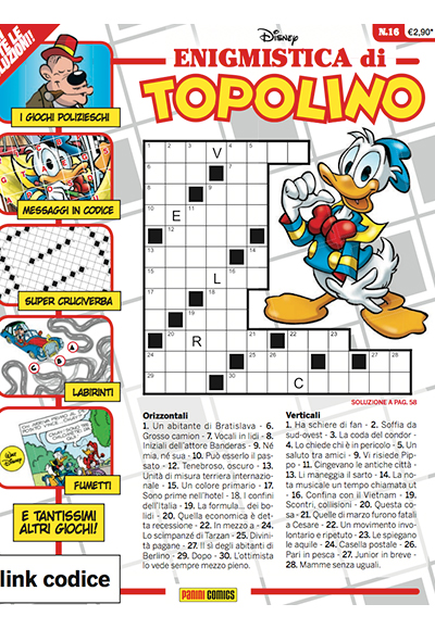 Cover Enigmistica di Topolino 16