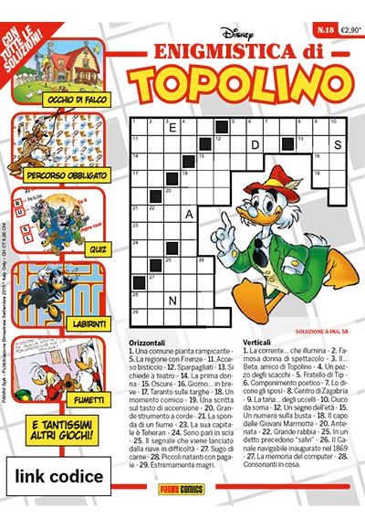 Cover Enigmistica di Topolino 18