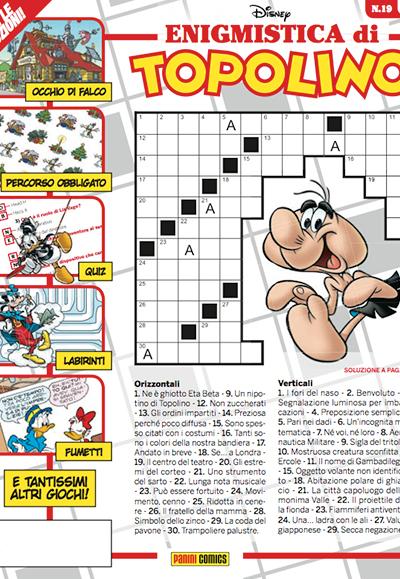 Cover Enigmistica di Topolino 19