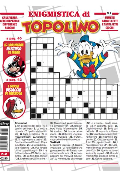 Cover Enigmistica di Topolino 2