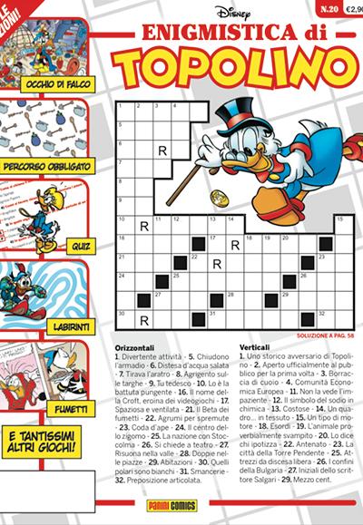 Cover Enigmistica di Topolino 20