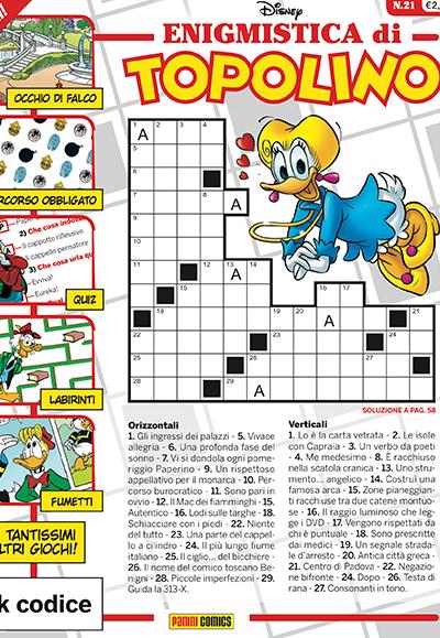 Cover Enigmistica di Topolino 21