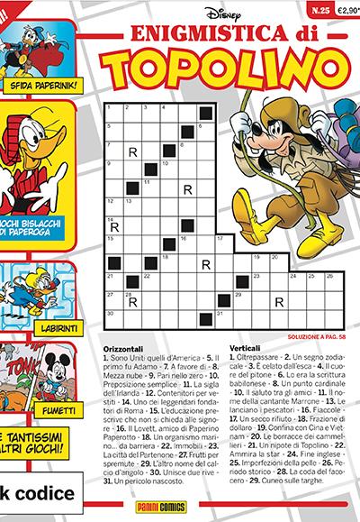 Cover Enigmistica di Topolino 25