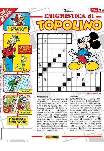 Cover Enigmistica di Topolino 26