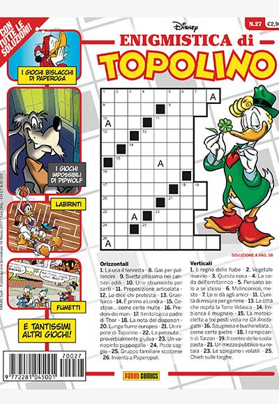 Cover Enigmistica di Topolino 27