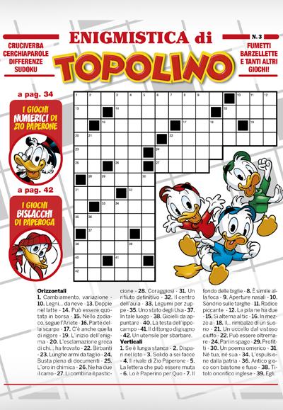 Cover Enigmistica di Topolino 3
