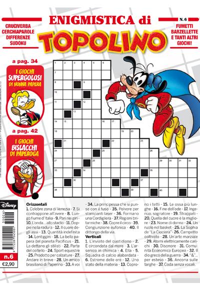 Cover Enigmistica di Topolino 6