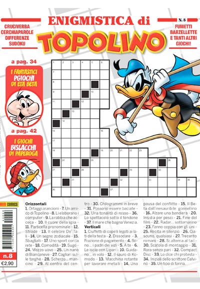 Cover Enigmistica di Topolino 8