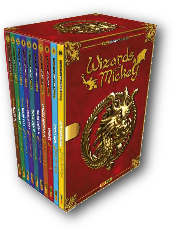 Cover Cofanetto Wizards of Mickey + 10 Volumi